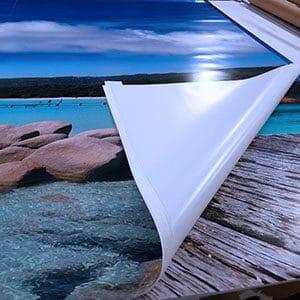 Toile Médicascreen® personnalisée avec impression plein écran.